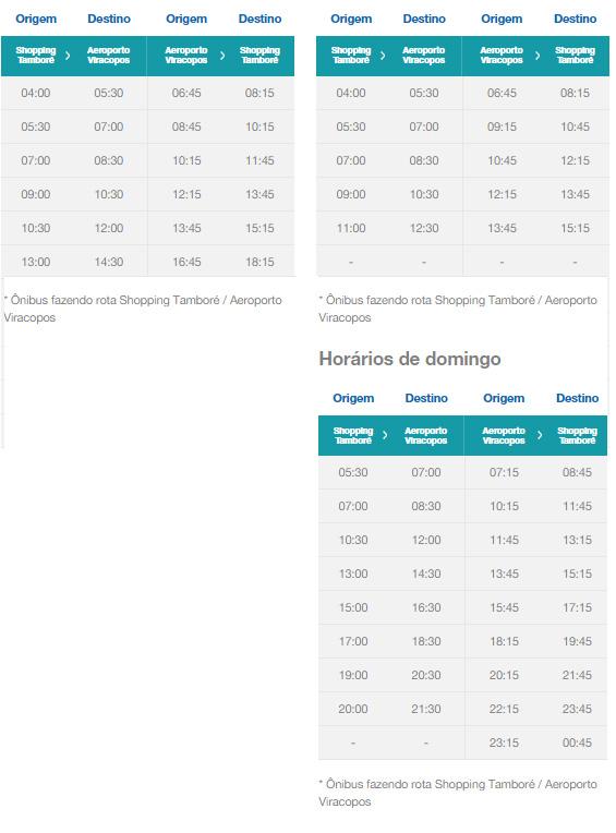 Confira os horários dos ônibus: Shopping Tamboré